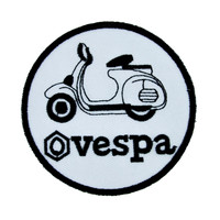 Vespa Scooter Patch Iron On Applique Alternative Clothing