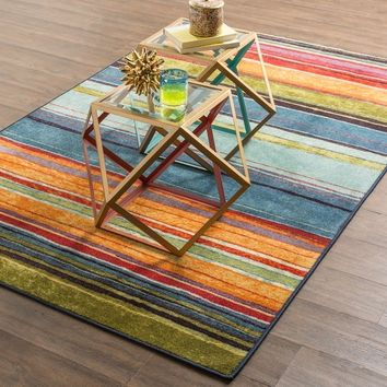 Mohawk Home New Wave Rainbow Multi (5' x 8') | Overstock.com Shopping - The Best Deals on 5x8 - 6x9 Rugs