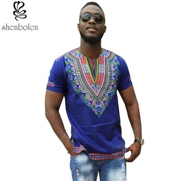 Mens African clothing dashiki T shirt