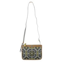 Brighton Womens Deen Printed Double Entry Crossbody Handbag