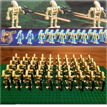 Star Wars Force Episode 1 2 3 4 5 New 60pcs/lot  Battle Droid Army sw001c Figure Model Set Compatible legoe clone  guns Solider building block toys AT_72_6
