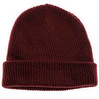 The Fold Beanie in Maroon
