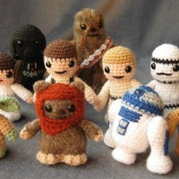 PATTERNS for 10 Star Wars Mini Amigurumi by lucyravenscar on Etsy