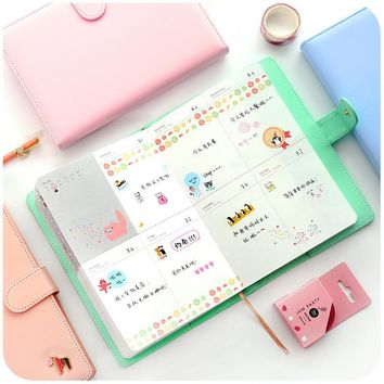Free shipping 2017 calendar books this notebook billbook stationery thickening befriend daily memos cute organizer planner