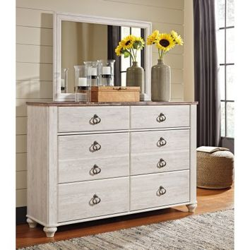 Signature Design by Ashley Willowton 6 Drawer Dresser with Optional Mirror - Walmart.com