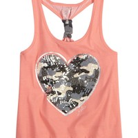 Sequin Icon Camo Tank | Tanks | Tops & Tanks | Shop Justice