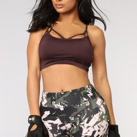 Keanna Active Sports Bra - Plum