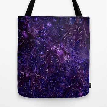 The Wolves Hidden in the Royal Purple Galaxy Tote Bag by Distortion Art