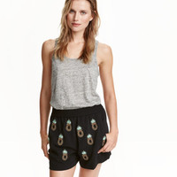 H&M Shorts with Beaded Embroidery $17.99