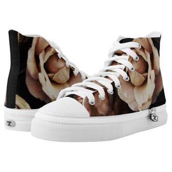Roses photography printed shoes