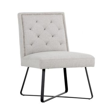 GREGORY LIGHT GREY FABRIC DINING CHAIR