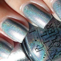 """OPI Nail Polish Designer Series DS """"SAPPHIRE"""" DS 010 DISCONTINUED HOLOGRAPHIC on eBay!"""