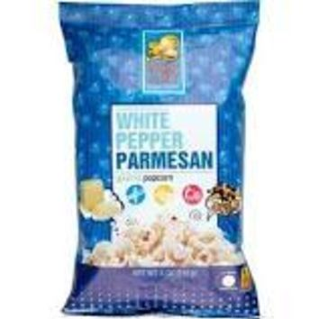 Pop Art Gourmet Popcorn - White Pepper Parmesan - Case Of 9 - 5 Oz.