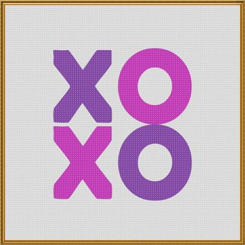 Valentine Letters XOXO and XOOX LOVE Sew So Simple ™ Counted Cross Stitch or Counted Needlepoint Pattern