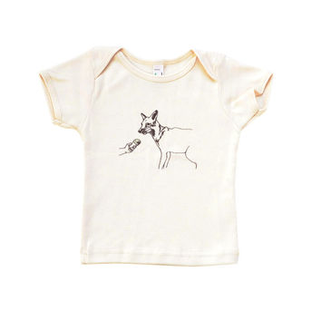 Fox Eating Ice Cream | Organic Baby Tee