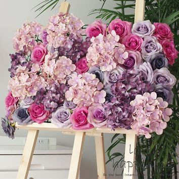 Artificial 11-layer silk rose head decoration flowers for Wedding Party Garden Decor Craft Art DIY hotel background wall flores