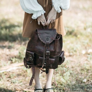 Small Backpack   Minimalist Backpack   Leather Rucksack   Simple Backpack