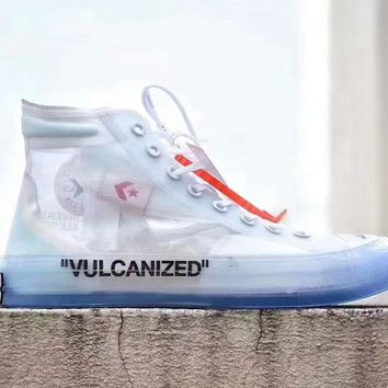 Converse   Off white new fashion women and men transparent canva f0c99a48bd