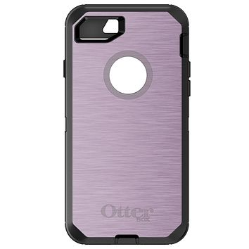 DistinctInk™ OtterBox Defender Series Case for Apple iPhone / Samsung Galaxy / Google Pixel - Pink Stainless Steel Print