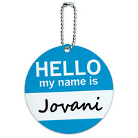 Jovani Hello My Name Is Round ID Card Luggage Tag
