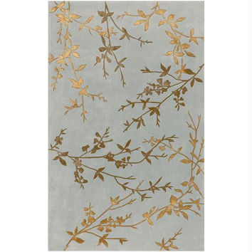 Throw Rug - Peanut Butter, Sepia, Slate Gray, Gold, Lily Pad Green, Golden Brown