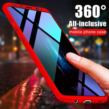 NAGFAK Luxury 360 Degree Protection Case For Samsung S8 S9 Note 8 Full Cover Case For Samsung Galaxy S8 S9 plus phone Case Shell