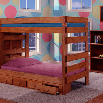 Duke Twin over Twin Stairway Bunk Bed