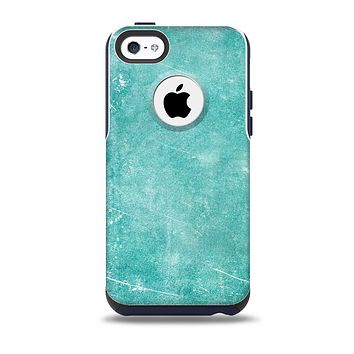 The Scratched Turquoise Surface  Skin for the iPhone 5c OtterBox Commuter Case