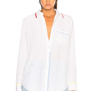 Equipment Reese Blouse in Bright White | FWRD