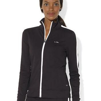 Lauren Ralph Lauren Stretch Mock-Turtleneck Jacket