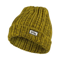 Hurley Canvas Original Men's Knit Hat Size 1SZ (Yellow)