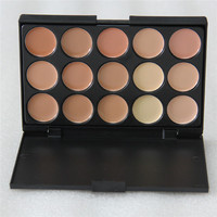 New 15 Color Beauty Salon Professional Face Cream Makeup Concealer Contour Palette Sets Y861-B