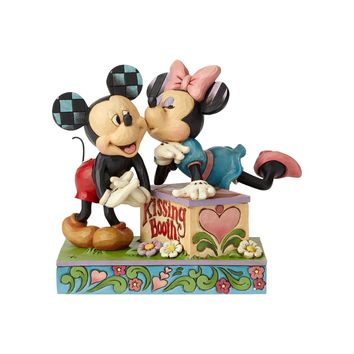 Disney Traditions Mickey and Minnie Kissing Booth Jim Shore New with Box