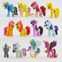 12Pcs Cute my Little pony Figures