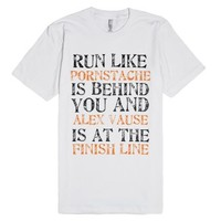 Run! (Unisex American Apparel OITNB Tee)-Unisex White T-Shirt