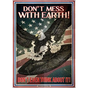 Independence Day Resurgence Propaganda Styled poster Metal Sign Wall Art 8inx12in