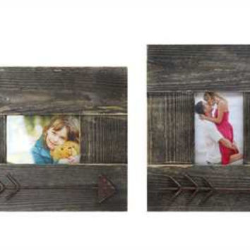 Wood & Metal Arrow Photo Frame