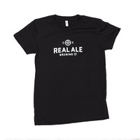 Black Real Ale T-shirt — Women's - Real Ale Brewing Company