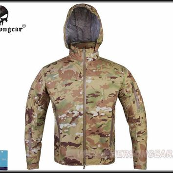 Hunting Combat EMERSON Outdoor Light Tactical Soft Shell Jacket Hooded Breathable perspiration Multicam EM6873MC