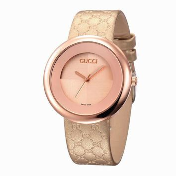 GUCCI Woman Men Fashion Leather Watch Business Watches Wrist Watch