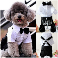 Dog Formal Jumpsuit Groom Tuxedo Pet Costumes Clothing = 1929782020