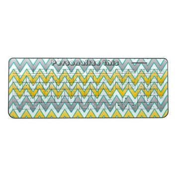 Gold and silver chevrons pattern personalised wireless keyboard