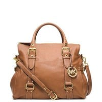 Lea Large Leather Satchel