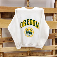 Vintage College Sweatshirt- University of Oregon