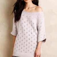Moth Chantal Pointelle Pullover in Lavender Size: