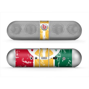The Red, Yellow & Green Layered Peace Skin for the Beats by Dre Pill Bluetooth Speaker