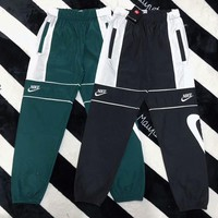 NIKE Popular Women Men Casual Embroidery Joining Together Color Sport Pants Trousers Sweatpants I-AA-XDD