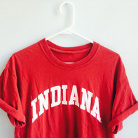 oversized vintage indiana university hoosiers t shirt