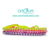 Neon set of friendship bracelets