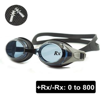 Optical Swim Goggles +Rx -Rx Prescription Swimming Glasses Adults Children Different Strength Each Eye with Free Ear Plugs